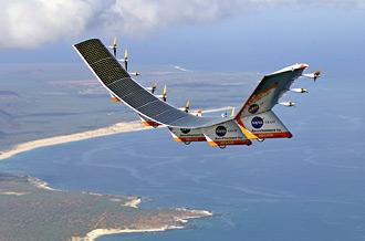 Helios in flight over Hawaii