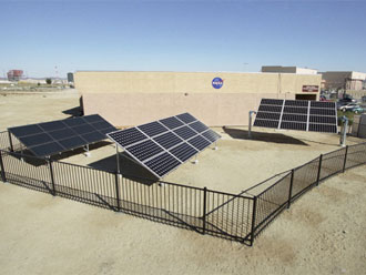 The 5 KW, state-of-the-art solar demonstration site at NASA Dryden is validating earthly use of solar cells developed for NASA's Helios solar-electric aircraft.