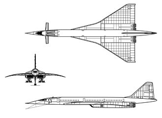 TU-144LL line drawing