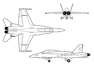 F-18 SRA 3-view drawing