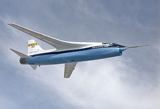 Supercritical wings add a graceful appearance to the modified NASA F-8 test aircraft.