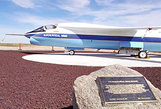 SCW F-8 is publicly displayed at NASA's Dryden Flight Research Center