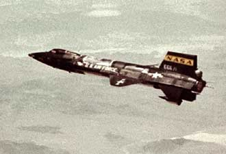 X-15 No. 2, with a dummy ramjet mounted on the lower ventral fin
