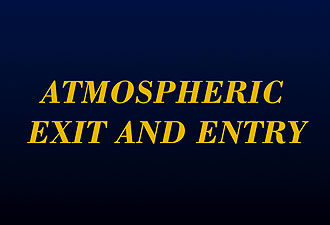 Atmostpheric Exit and Entry of the X-15 (Slide 9)