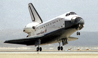 STS Endeavour landing at Edwards AFB
