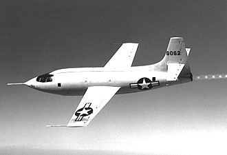 X-1 in flight