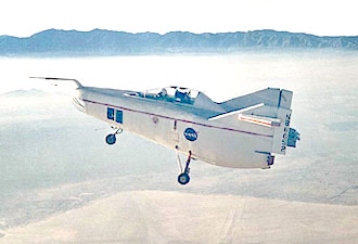 M2-F1 in flight over Rogers Dry Lake