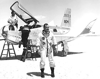 William H. Dana with HL-10 Lifting Body