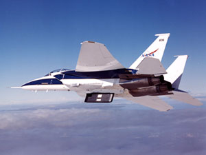 Dryden's F-15B test fixture recently was used in the Lifting Insulating Foam Trajectory experiment as part of NASA's return-to-flight work. The LIFT experiment tested behavior of insulating foam debris when it is shed from the Shuttle's external fuel tank.