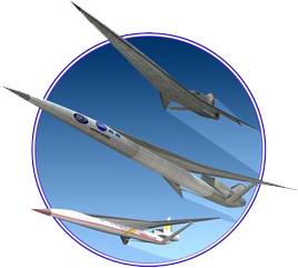 Northrop Grumman conceptual designs of quiet supersonic aircraft. NGC image.