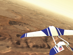 Here is another view of the Aerial Regional-scale Environmental Survey of Mars, or ARES aircraft. NASA Illustration by Garry D. Qualls