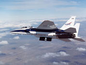 Dryden's F-15B testbed aircraft flies one of the Lifting Insulating Foam Trajectory, or LIFT, research flights.