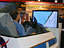 A portable F-16 flight simulator from Dryden was a big hit at the Aerospace Testing Expo 2005.
