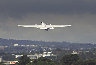 ER-2 takes off from San Jose, Costa Rica.