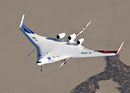X-48B Blended Wing Body aircraft in flight
