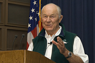 Former test pilot Chuck Yeager.