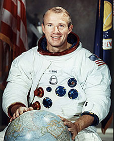 Vance Brand is pictured in his Apollo astronaut portrait.