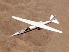 AD-1 in flight seen from above