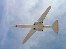 AD-1 in flight seen from below