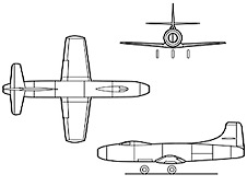 Diagram of D-558-1