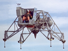 NASA LLRV in flight, 1967.