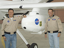 Ikhana pilots Herman Posada, left, and Mark Pestana.