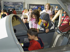 Visitors to the NASA exhibit had an opportunity to