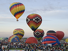 The mass ascensions are one of the favorite events at the Balloon Fiesta.