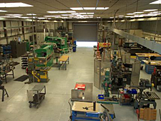 Overhead view of the Sheet Metal Shop