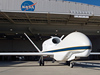 Global Hawk being towed out of Hangar 4801 at DFRC