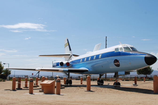 This modified Lockheed JetStar business jet was flown by NASA's Dryden Flight Research Center on a variety of significant aeronautical research projects from 1964 through 1989.