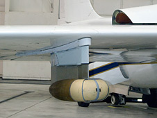 Large Area Collector sensor is mounted under the wing of NASA's ER-2