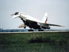 Russian TU-144LL SST Flying Laboratory takeoff at Zhukovsky Air Development Center