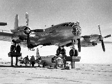 X-1-3 being mated to EB-50A Superfortress
