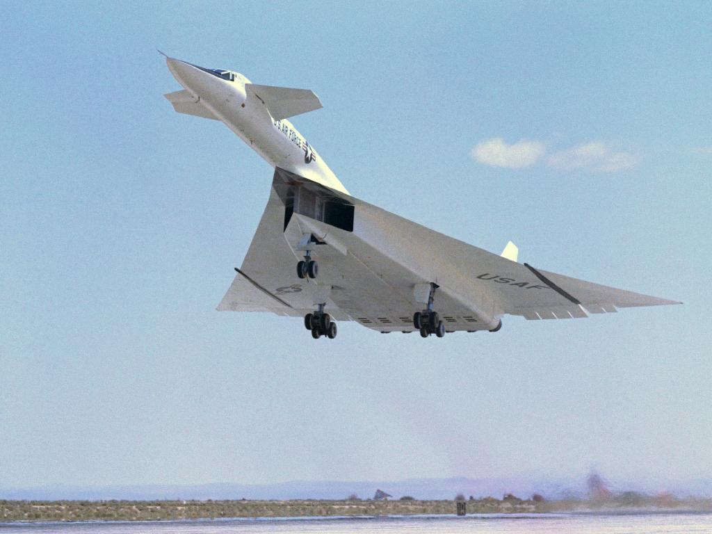 XB-70A bomber used some wave