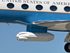 The synthetic aperture radar pod is slung beneath NASA's Gulfstream-III research testbed.