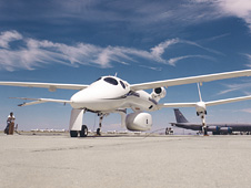 Proteus on the runway at the Mojave airport