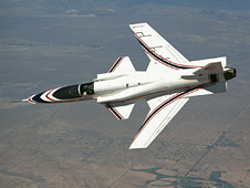 X-29 in flight