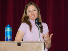 Jennifer Cole, Dryden's aerodynamics and propulsion branch chief, delivered a keynote speech about her career journey during an Aug. 27 presentation commemorating Women's Equality Day.
