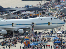 More than 64,000 visitors thronged the Edwards flightline for the base's 2006 open house.