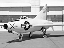 XF-92A in front of hangar