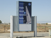 The new street sign for the Dryden Aircraft Operations Facility (DAOF) was installed Friday, Sept. 4, 2009 at the intersection of 30th Street East and Avenue P in Palmdale, CA