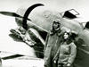 Charles and Anne Lindbergh with their Lockheed Sirius prior to its modification for the Arctic air-route survey flights.