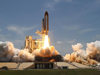 Space shuttle Atlantis lifts off from Launch Pad 39A at NASA's Kennedy Space Center in Florida on the STS-132 mission to the International Space Station.