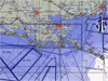 Map of planned flight tracks for the final Gulf oil spill survey mission of NASA's ER-2 Earth resources aircraft along the wetlands near New Orleans, La.