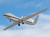 NASA's Global Hawk # 871 soars aloft from Edwards Air Force Base, Calif., on its first checkout flight