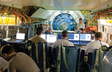 The Stratospheric Observatory for Infrared Astronomy science team at work.