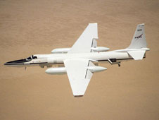 ER-2 in flight over desert