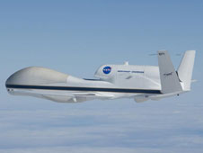 Global Hawk 871 in flight