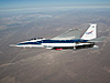 Eagle Aero probes fly underneath NASA's F-15B research test bed aircraft.